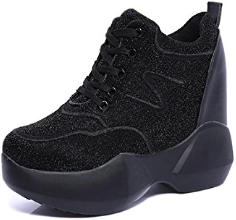 GTVERNH comfort scarpe da donna 11 cm super tacco alto scarpe casual inverno e autunno in tinta unita satinato... | Imballaggio elegante e robusto  | Uomo/Donna Scarpa