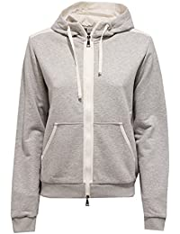 MONCLER 7400V felpa donna grey sweatshirt woman