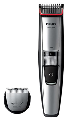 Philips BEARDTRIMMER Series 5000 Barbero BT5206/16 - depiladoras para la barba (0,4 mm, 7 mm, 0,2 mm, Negro, Acero inoxidable, 50 min, 1 h)