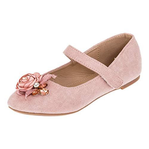 r Mädchen Prinzessinnen Schuhe Ballerinas mit Schnalle M518rs Rosa 31 EU ()