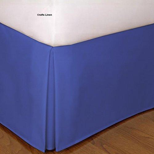 Crafts Leinen Ägyptische Baumwolle Scala Satin One Stück Bett Rock, Baumwolle, Egyptian Blue Solid, Kleines Doppelbett