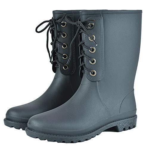 Frauen schwarz Knöchel Regen Schuhe Anti Slip Kurze elastische Regen Stiefel Slip On Wasserdichte Chelsea Boots Gummistiefel für Frauen halbe Länge
