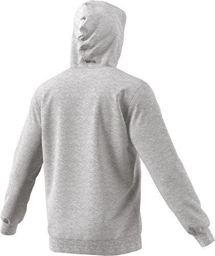adidas Herren Sportkapuzenpullover Trefoil Hoodie Medium Grey Heather
