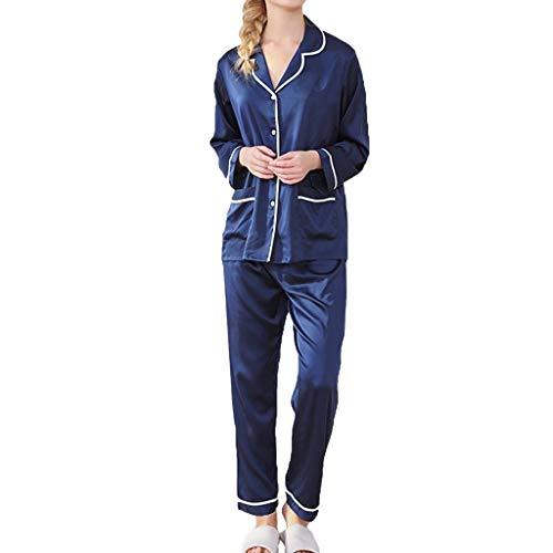 Staresen Damen Pyjama Set Simulation Seide Schlafanzug Set Frauen Nachthemd Reizwäsche Dessous Bodysuit Reizwäsche Nachtwäsche Body Sleepwear -