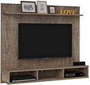 Artely Mister Wall Panel for 60 inch TV, Cinnamon Brown, W 160 cm x D 35 cm x H 136 cm