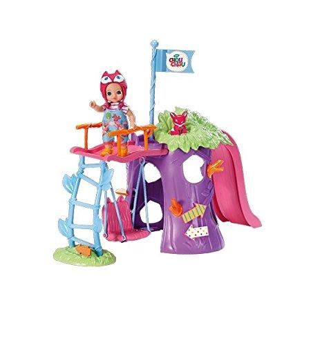 Zapf Creation 920312 - Mini Chou Chou Spielplatzset mit exklusivem Fox Susy (Puppe Spielplatz)