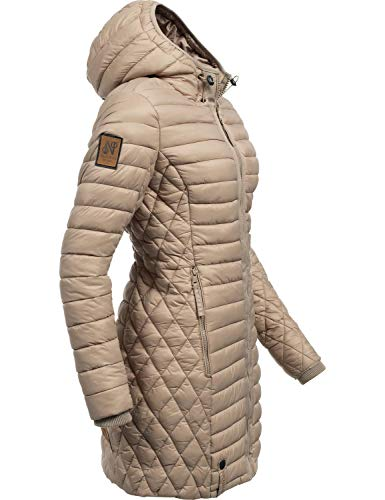 Navahoo Damen Winterjacke Wintermantel Steppmantel Zea Taupe Gr. M Warme Winter-jacke