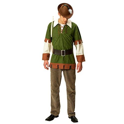 Kostüm Herren Mittelalterkostüm Bogenschütze Waldläufer Jäger Herrenkostüm ()