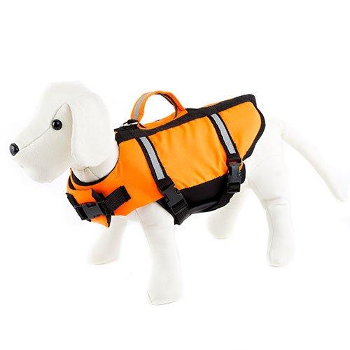 Freedog FD1200072 - Chaleco Salvavidas, para Perro, Color Naranja