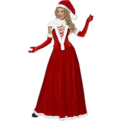 NET TOYS Miss Santa Kostüm Weihnachtsfrau Kleid S 36/38 Weihnachtskleid Weihnachtsfraukostüm Damenkostüm Weihnachtskostüm Frau