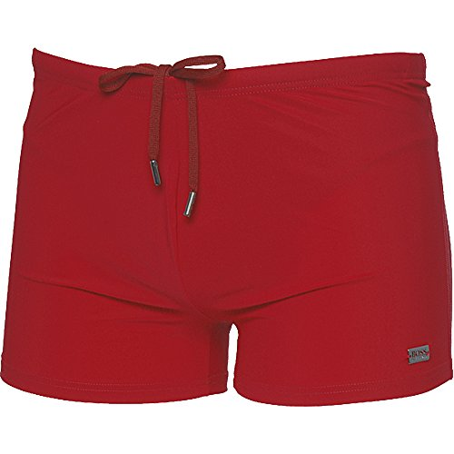 BOSS Hugo Boss Herren Badehose Oyster Rouge (weinrot medium red)