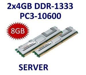 Dual Channel Kit: 2 x 4 GB = 8GB 240 pin DDR3-1333 Dual Rank ECC Registered (1333Mhz, PC3-10600, CL9) - 100% kompatibel zu IBM FRU # 49Y1445 + 46C0596 + 49Y1435  - passend für IBM System x3400 M2 (7836) + System x3400 M2 (7837-xxx) + System x3400 M3 (DDR3-1333MHz) + System x3500 M2 7839-xxx (DDR3-1333Mhz) + System x3500 M3 (DDR3-1333MHz) (Reg.ECC) + System x3550 M2 (4198, 7946-xxx) (DDR3-1333MHz) +  System x3550 M3 (DDR3-1333MHz) (Reg.ECC) + System x3650 M2 (4199, 7947-xx) (DDR3-1333MHz) + System x3650 M3 (DDR3-1333MHz) (Reg.ECC) + System x iDataPlex dx360 M2. -