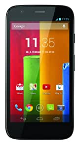 "Motorola Moto G Smartphone, Display HD 4,5"", Processore Qualcomm, Memoria 8 GB, MicroSIM, Android 4.4 OS, Fotocamera da 5 MP, Nero [Germania]"