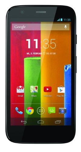 Motorola Moto G Smartphone (11,4 cm (4,5 Zoll) HD-Display, 5 Megapixel Kamera, 1,2 GHz Quad-Core-Prozessor, 8 GB interner Speicher, Android 4.3 OS) schwarz