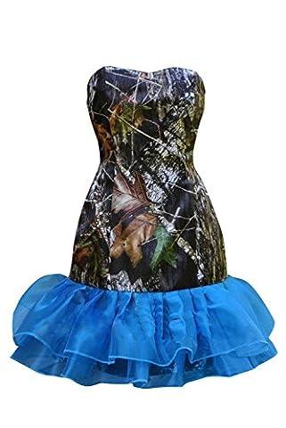 OKDRESS - Robe de chambre - Moulante - Sans Manche - Femme - Bleu - 44