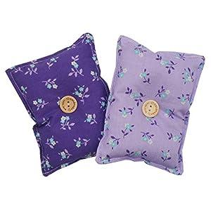 """Mini-Kissen """"Schlaf gut – Lila"""" (2er-Pack), gefüllt mit organischen Lavendelsamen – Lege es zum Einschlafen unter dein Kopf- oder Sofakissen, um die Nerven zu beruhigen und dich auszuruhen. 13x10cm"""