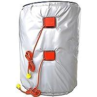 D&F Calentador de Banda de Tambor Aislado 53 galones / 200 litros Calentador de Barril de Grasa Digital Ajustable Controlador termostático 880 * 1820 mm (Barril Lleno)