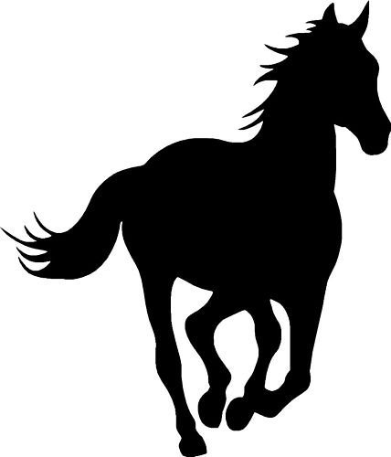 Horse Silhouette Car,Van Window Sticker Decals #13 by LightningSigns