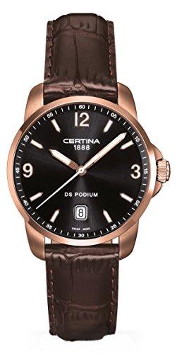 Certina Herren-Armbanduhr XL Analog Quarz Leder C001.410.36.057.00