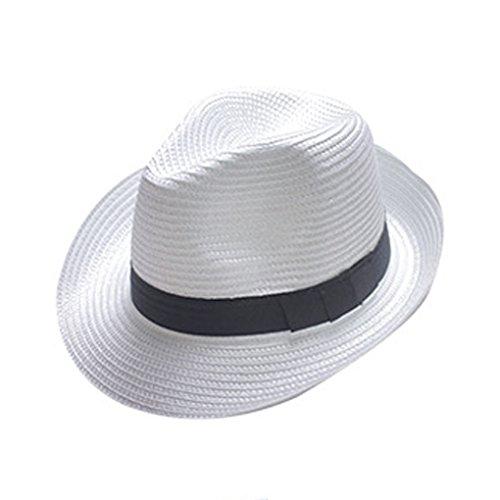 - Weißer Fedora Hut