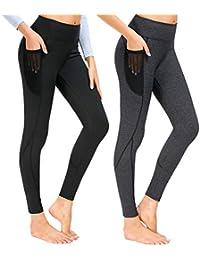 4ab04af27c75e5 Munvot Damen Laufhose Sporthose Sport Leggings Tights 1 bis 2er Pack