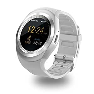 M-STARK iBall Andi F2F 5.5U Bluetooth Smart Watch (SILVER) Best U8 Bluetooth Authentic U Watch Silicon Wristband, Camera & Fashion New Arrival Hot Fashion Premium Quality Lowest Price Sports, Outdoor, Health, Digital Touch Screen, Lightweight, Wifi, Internet