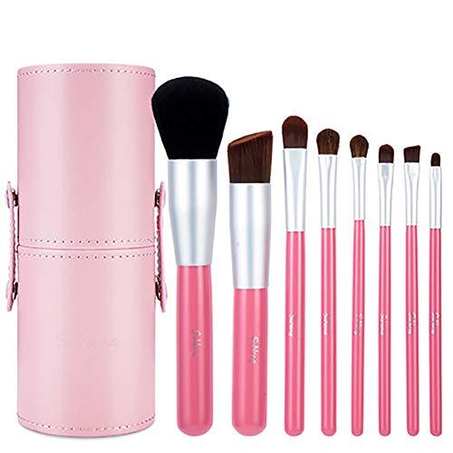 Maquillage Synthétique Poils Brosses Ensemble, Mélange Visage Poudre Rougir Cache-cernes Yeux Cosmétiques Fondation Professionnel Premium Brosses Kit de-rose