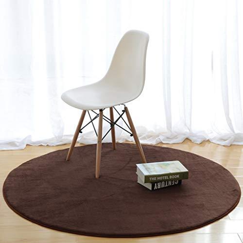 Coral Moderner Teppich (Maitsive Runder Teppich Coral Velvet moderner Teppich für Schlafzimmer Wohnzimmer Studie Anti Rutsch Teppich (Größe: 120 cm Durchmesser) (Farbe: C))