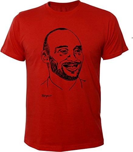 Mister Merchandise Cooles Herren T-Shirt Kobe Bryant Rot