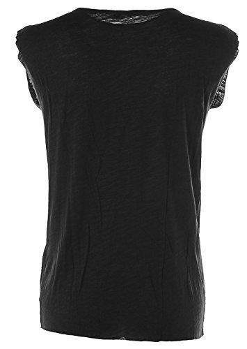 Barbara Becker Damen T-Shirt Rundhals Strasssteine Glitzer Black