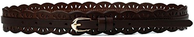 YLiansong Donne Top Pelle Strato in Pelle Top di Vacchetta Cintura Cintura  Semplice Abito da Donna Decorazione Vita Abito... Parent b765b6 5ffff3901efb