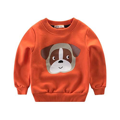 YanHoo Ropa para niños Camiseta de Manga Larga Sudaderas De Manga Larga con Estampado Animal de Dibujos Animados para niños, además de Terciopelo Grueso, Camiseta cálida y Camiseta suéter