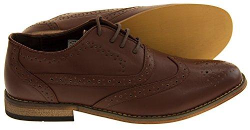 """Des classiques des hommes """"Jack 2"""" Faux cuir à lacets Derbies Chaussures Marron"""
