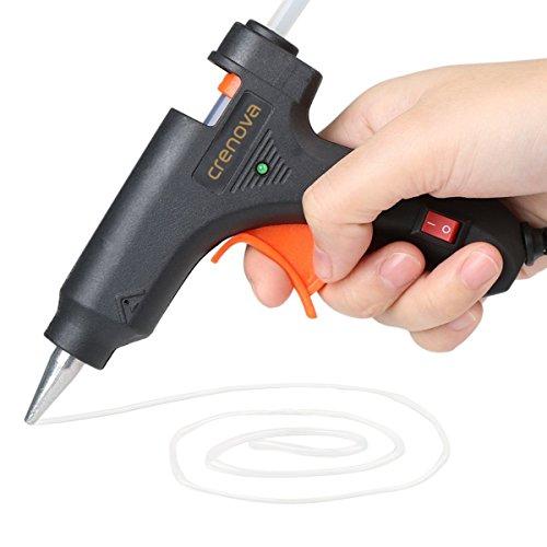 DISCOBALL Heißklebepistole Klebepistole + 50 Heißklebesticks Transparente Klebesticks für DIY Kleine Handwerk und schnelle Reparaturen in Haus & Büro, 20Watt Klebepistolen