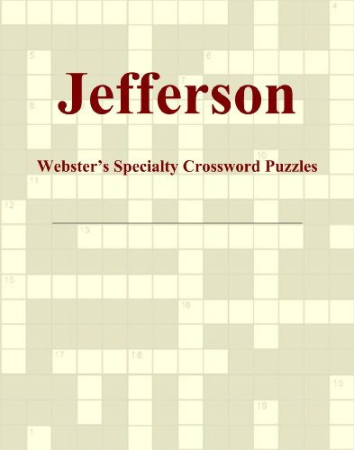 Jefferson - Webster's Specialty Crossword Puzzles PDF Books