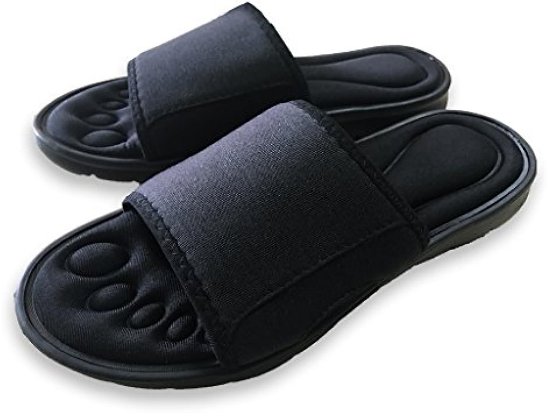 The Slipperz Co. 09205 - Zapatillas de Estar por casa de Sintético para Mujer Negro Negro 39