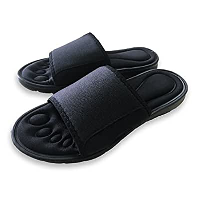 Mens Memory Foam Padded Slippers Flip Flop Slide-on Sandles UK Size 6