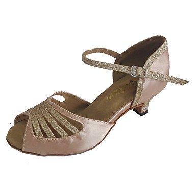Silence @ Femme latine Chaussures Talon Bout ouvert Sandales de danse Plus de couleurs noir