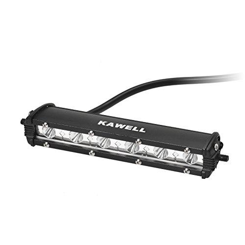 LED Barra 4x4 18W, KAWELL Barra para Coche Quad Faro Antiniebla LED Luz de Trabajo tractor Luz Lámpara Foco Impermeable camión, barco