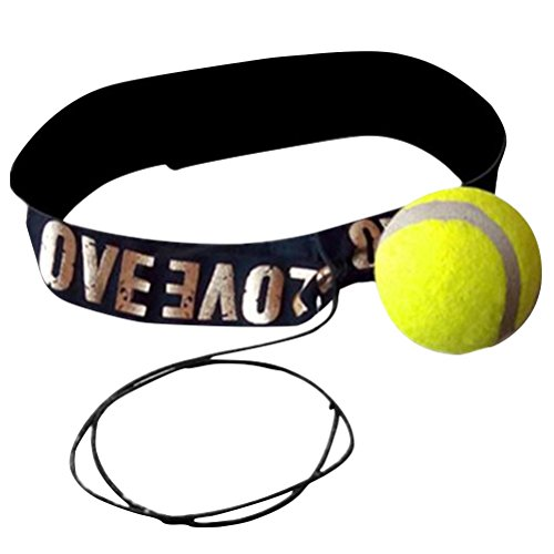 VORCOOL Boxen Trainingsball mit Stirnband für Reflex Speed Training Boxen Punch Übung Gelb