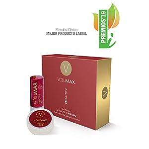 VOLUMAX TRIACTIVE – Tratamiento Antiedad Voluminizador Labios   Balsamo Labial Nocturno + Stick Diurno   Antiarrugas, Regenerador e Hidratante   + Volumen en 28 Días   Vitamina E + Retinol   SPF15