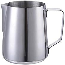 hjuns–Juego de 150/350/600/1000ml taza de leche para espuma de leche jarra de acero inoxidable 1.000 ml