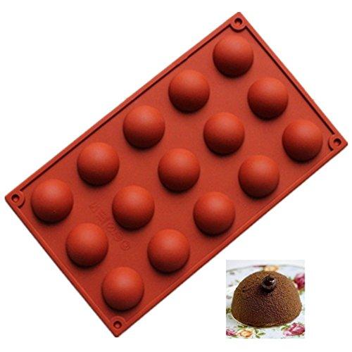 (JasCherry Silikon Backform für Schokolade, Cupcakes, Kuchen, Muffinform für Muffins, Pudding, Eiswürfel und Gelee - Halbkreis #2)