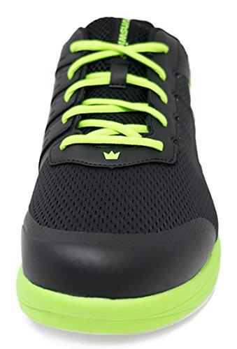Brunswick Fuze Bowling di scarpe per uomo e donna, per destrorsi e mancini Scarpe Taglia 39-46, in vari colori Nero / Neon