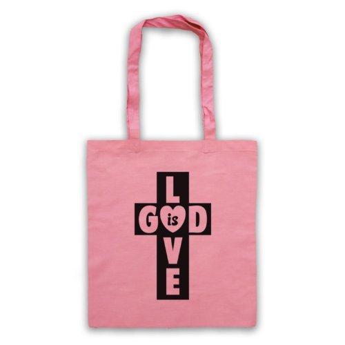 God Is Love Borsa a croce Rosa