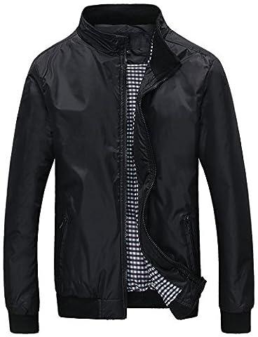 Manteau Classique Long Homme - Mochoose Veste Classique Blouson Imperméable Bomber Zip