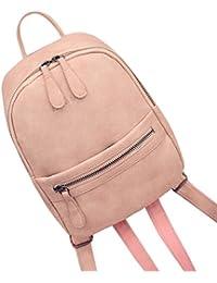 Bovake - Bolso mochila  de Piel para mujer gris gris