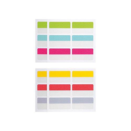 Herlitz 11374071 Haftregister index tabs, 22 x 40 mm, 24 Stück, 6 Farben-4 Stück