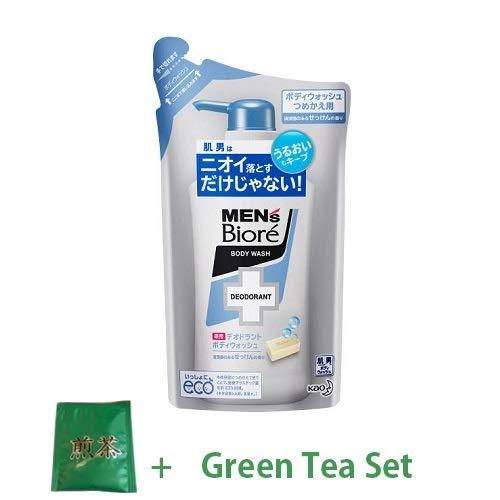 Kao Men's Biore Medicinal Deodorant Body Wash Refill 380ml - Soap Scent (Green Tea Set) -