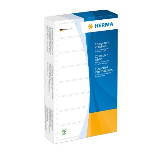 Herma 8072 Computeretiketten (perforiert Papier matt, 147,32 x 99,2 mm) 1000 Stück weiß